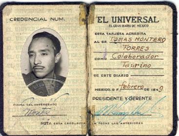 Credencial Tomás Montero