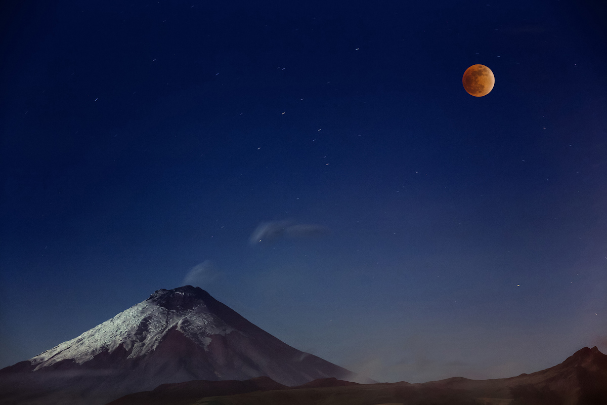 Cotopaxi and Red Moon