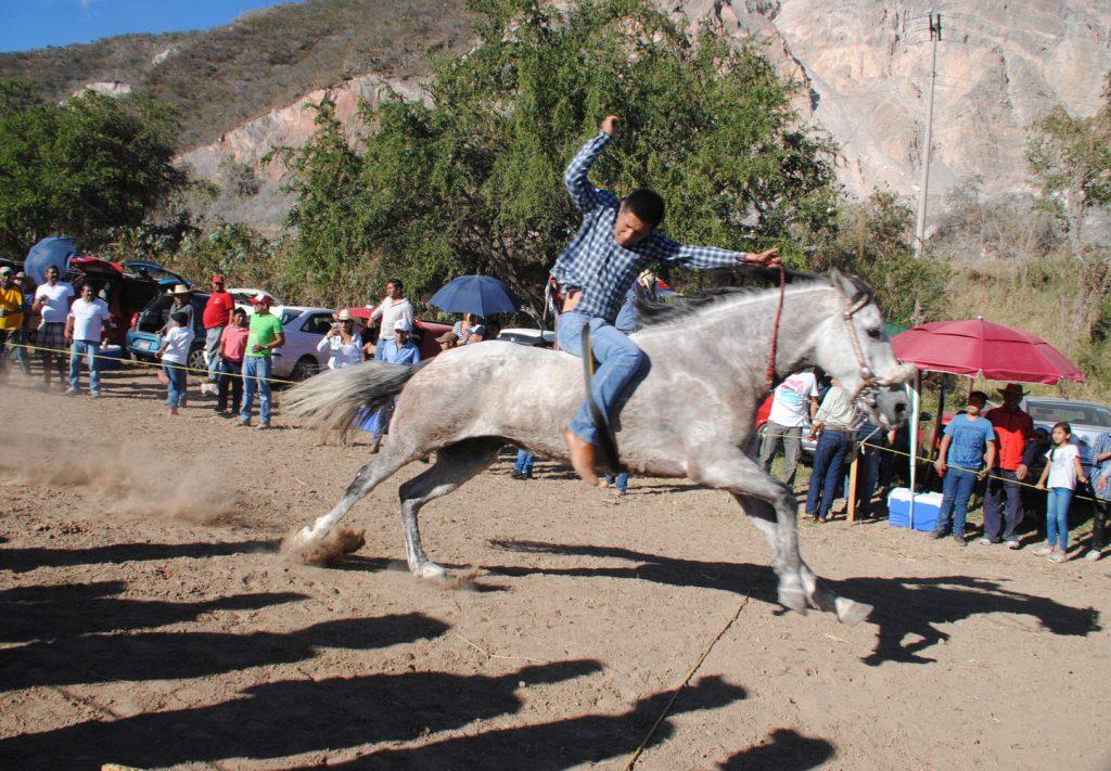 """CHILPANCINGO, GUERRERO, 30DICIEMBRE2016.- Jinetes llevaron acabo una carrera de caballos """"docientas varas"""" en la que participaron diferentes participantes del estado,  la carrera se llevó acabo en la quebradora cerca del crucero de Chichihualco. FOTO: JOSÉ I. HERNANDEZ /CUARTOSCURO.COM"""