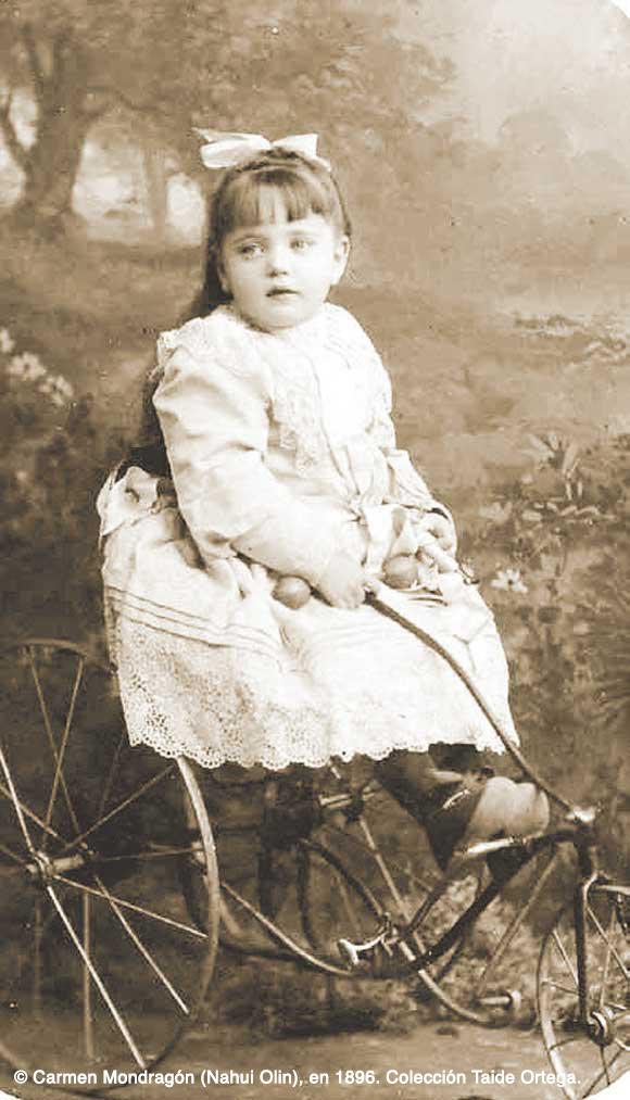 Carmen Mondragón (Nahui Olin), en 1896. Colección Taide Ortega.