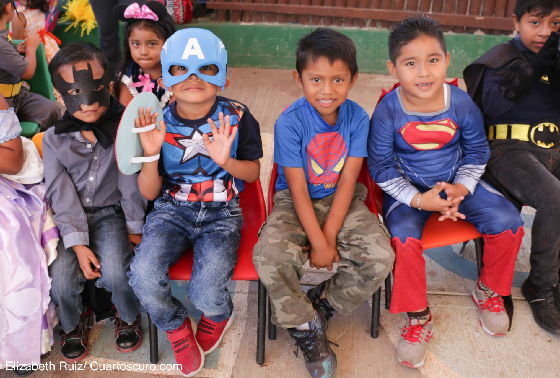 PUERTO MORELOS, QUINTANA ROO, 30ABRIL2019.- Niños disfrazados de super héroes y princesas festejaron el Día del Niño. FOTO: ELIZABETH RUIZ /CUARTOSCURO.COM