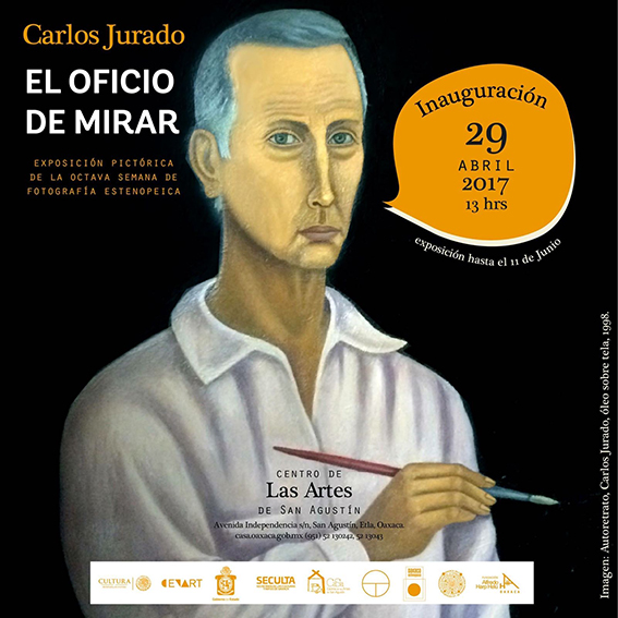 bajas5. Cartel de la exposicioìn de Carlos Jurado en el CaSa, Oaxaca, 2017